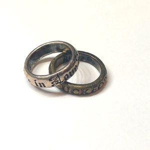 Lucky Brand ring set